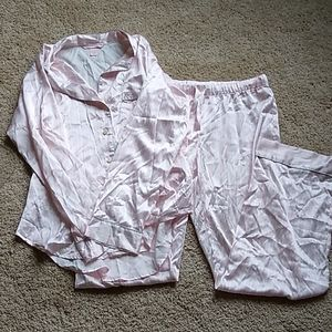 Victoria's Secret silky striped pajama set